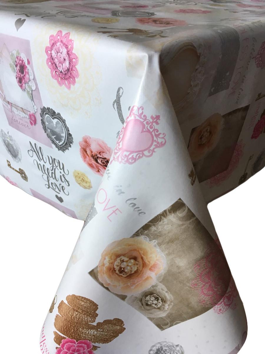 Клеенка столовая L'Cadesi Florista, прямоугольная, 140 х 200 см. FL140200-368-01