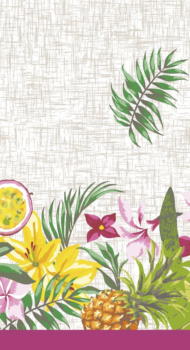 Скатерть Duni Bahamas Floral, 138 x 220 см the bahamas