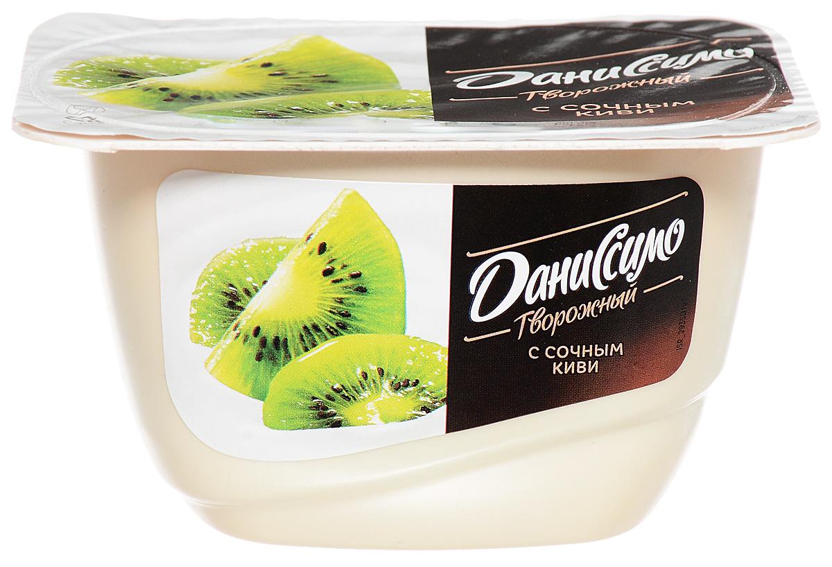 Даниссимо Продукт творожный Киви 5,5%, 130 г hulala напиток миндальный с сахаром ультравысокопастеризованный со вкусом и ароматом фисташек 1 кг