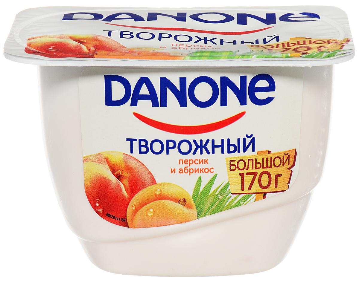 Danone Продукт творожный Персик абрикос 3,6%, 170 г danone йогурт густой персик 2 9% 110 г