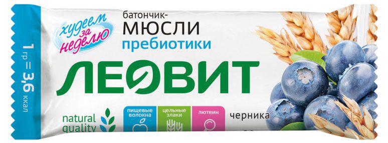 Леовит Батончик-мюсли с черникой и пребиотиками, 30 г friso фрисолак 2 га смесь с 6 месяцев 400 г