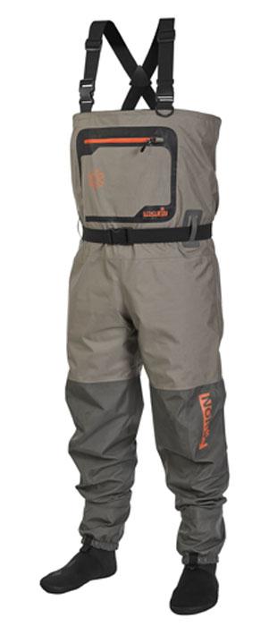 Полукомбинезон рыбацкий мужской Norfin, цвет: серый. 91255. Размер XXL