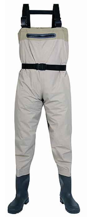 Полукомбинезон рыбацкий мужской Norfin, цвет: серый. 81244. Размер 42