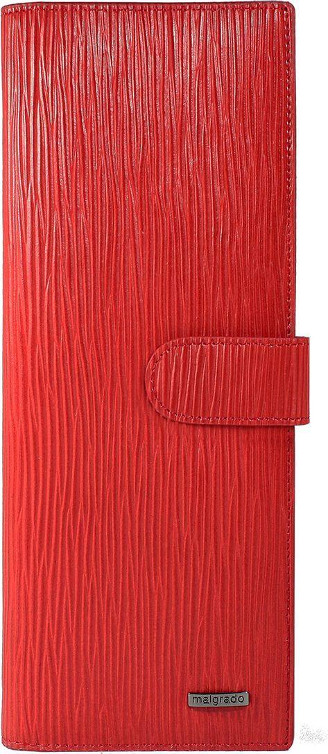 Визитница женская Malgrado, цвет: красный. 42001-53009