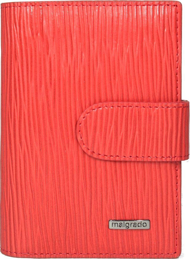 Визитница женская Malgrado, цвет: красный. 42003-53009