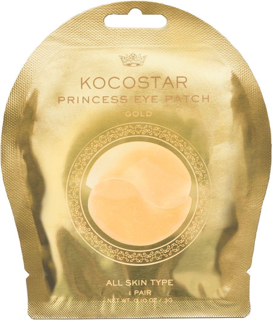 Kocostar Гидрогелевые патчи для глаз, цвет: золотые, 2 шт гидрогелевые патчи для глаз petitfee