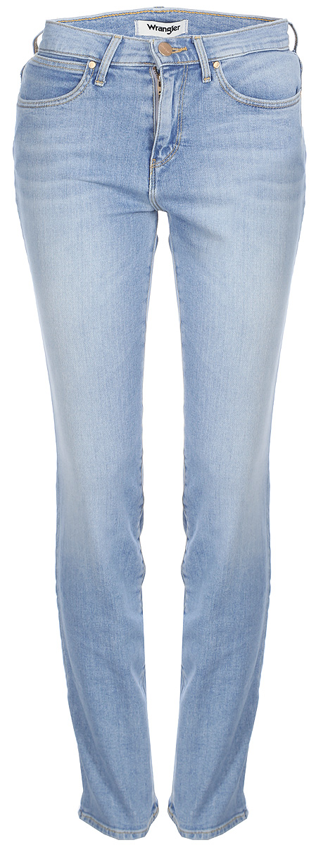 Джинсы женские Wrangler High Slim, цвет: голубой. W27GQB15K. Размер 27-32 (42/44-32)W27GQB15KДжинсы от Wrangler выполнены из эластичного хлопкового денима. Джинсы-слим зауженного кроя и завышенной посадки застегиваются на пуговицу в поясе и ширинку на застежке-молнии, дополнены шлевками для ремня. Джинсы имеют классический пятикарманный крой: спереди модель дополнена двумя втачными карманами и одним маленьким накладным кармашком, а сзади - двумя накладными карманами.