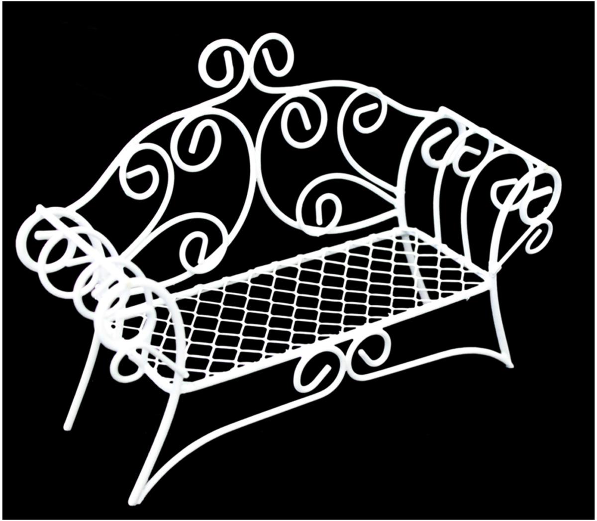 Zakazat.ru: Декоративное украшение-миниатюра Астра Диван, металл, цвет: белый
