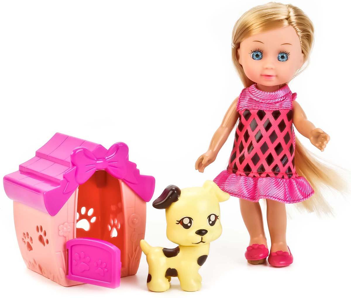 Карапуз Кукла Hello Kitty Машенька с питомцем куклы карапуз кукла карапуз hello kitty машенька 12 см на скутере