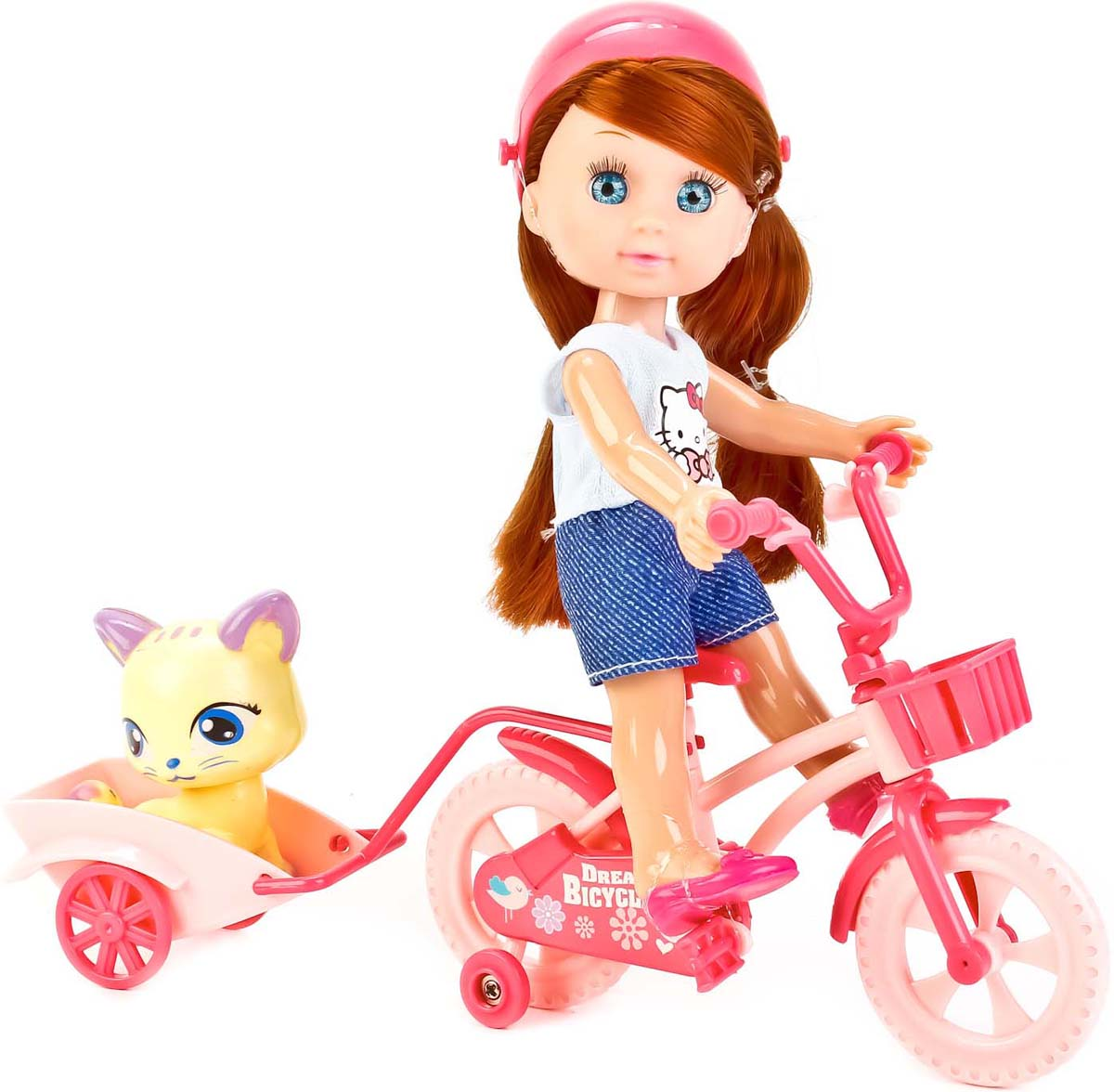 Карапуз Кукла Hello Kitty Машенька на велосипеде кукла кана из серии джуку