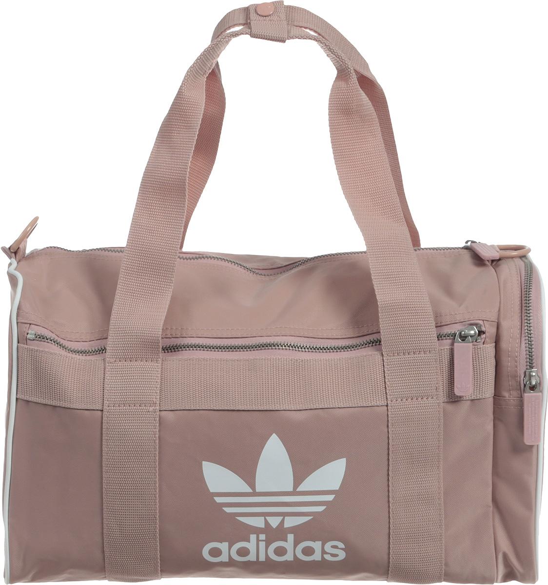 Сумка спортивная Adidas Duffle M Ac, цвет: розовый, 19 л. CW0616
