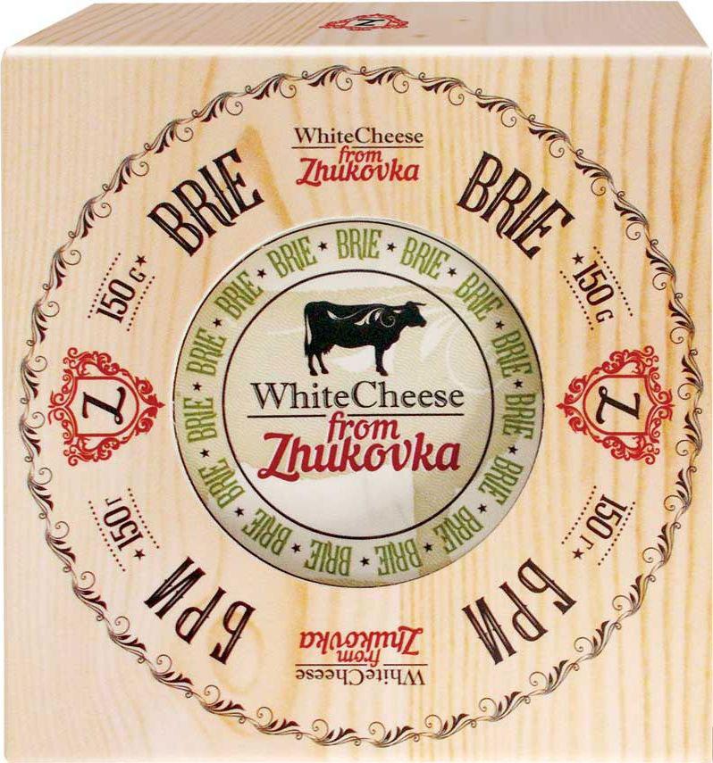 WhiteCheese from Zhukovka Сыр Бри с белой плесенью 60%, 150 г село зеленое сыр гауда премиум 40% 250 г