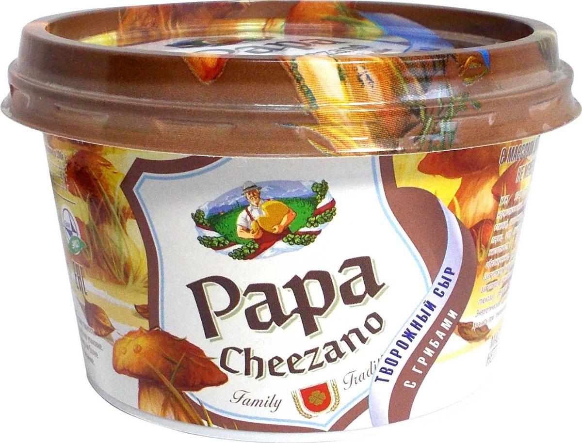 Фото Papa Cheezano Творожный сыр с Грибами 60%, 160 г