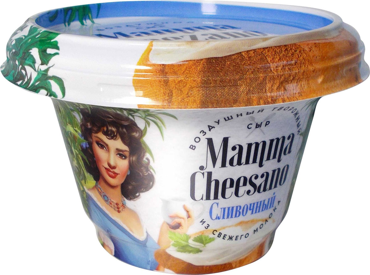 Маmma Cheezano Творожный сыр Сливочный 60%, 150 г garofalo радиаторе гофрированные с выступами и глубокими желобками 87 500 г
