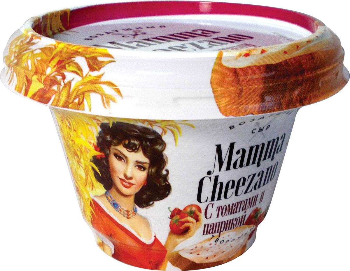 Маmma Cheezano Творожный сыр Томат и Паприка 60%, 150 г диет марка отруби хрустящие пшеничные с морской капустой 200 г