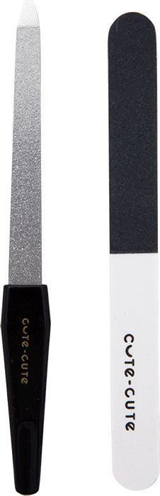Cute-Cute Набор инструментов для маникюра (пилка алмазная, пилка мягкая)049108Строгий, лаконичный, маникюрно-педикюрный набор, в удобной блистерной упаковке, включает в себя маникюрный инструмент, ориентированный на домашнее использование. Идеально подходит для ухода за ногтями. В набор входит: пилочка алмазная, пилочка мягкая 4 стороны