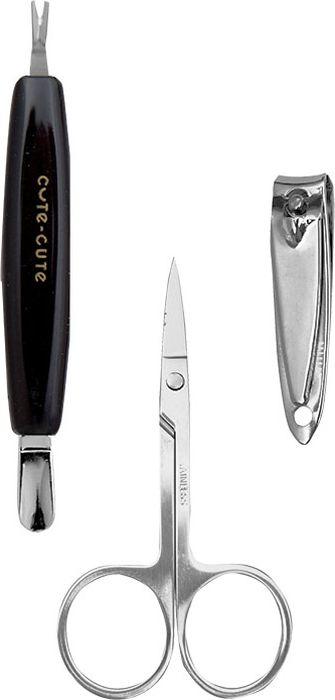 Cute-Cute Набор инструментов для маникюра (триммер, ножницы, клиппер)049111Строгий, лаконичный, маникюрно-педикюрный набор, в удобной блистерной упаковке, включает в себя маникюрный инструмент, ориентированный на домашнее использование. Идеально подходит для ухода за ногтями. В набор входит: клиппер, ножницы маникюрные, триммер с лопаткой
