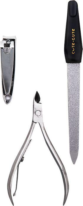 Cute-Cute Набор инструментов для маникюра (кусачки маникюрные, клиппер, пилка алмазная)