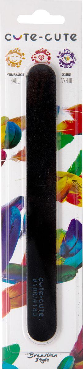 Cute-Cute Пилка маникюрная, прямая, цвет: черный, абразив 100/180049131Профессиональная пилка на мягкой основе. Имеет грубую абразивность и применяется для запила боковых сторон и свободного края искусственного ногтя. Не используется для запила натуральных ногтей. Пилку можно промывать под проточной водой щеткой и дезинфицировать специальными препаратами