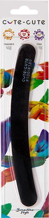 Cute-Cute Пилка маникюрная Бумеранг, цвет: черный, 100/180 kinetics пилка для натуральных ногтей 180 180 white turtle