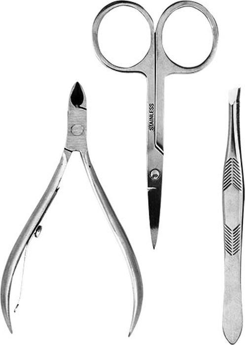 Cute-Cute Набор инструментов для маникюра (кусачки, пинцет скошенный, ножницы прямые) маникюрные наборы gd маникюрный набор