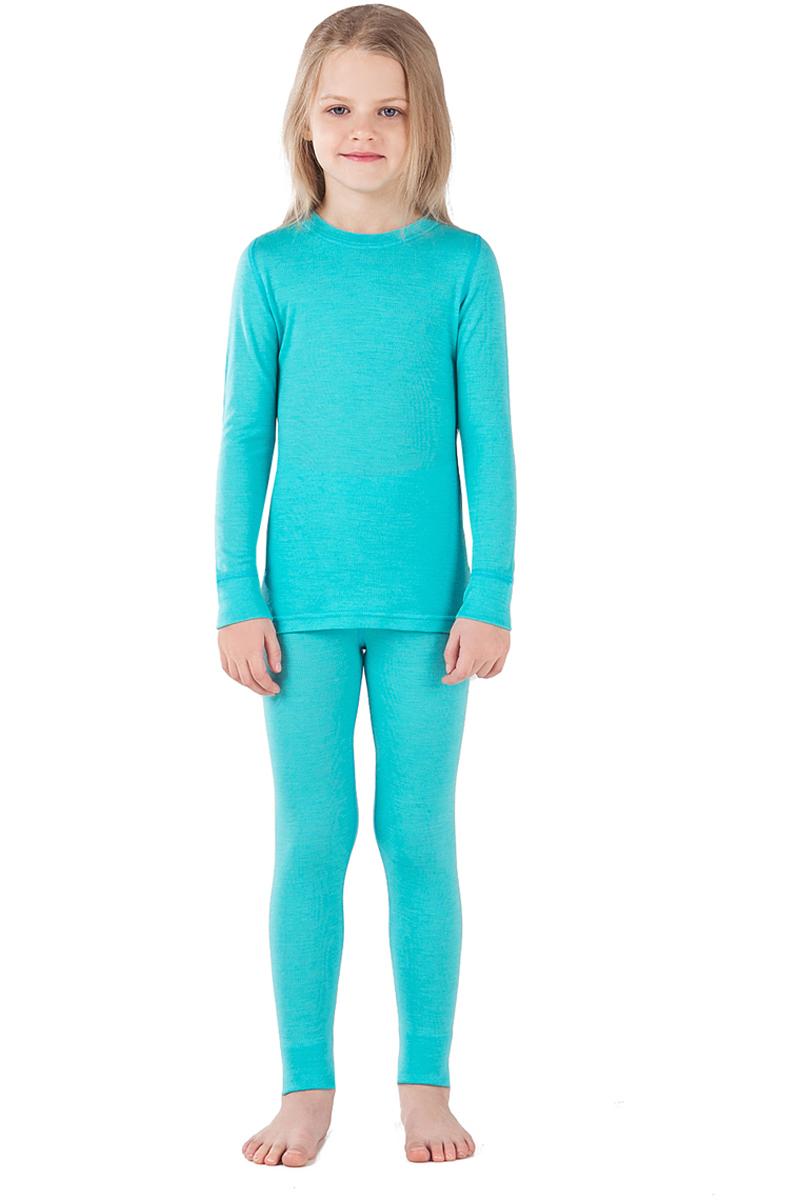 Комплект термобелья детский Dr. Wool, цвет: голубой. DWKL 30102. Размер 92/98DWKL 30102Комплект термобелья Dr. Wool, состоящий из лонгслива и брюк незаменим в холодную погоду. Для еще большего комфорта резинка, манжеты и швы сделаны мягкими, поэтому не вызывают раздражения кожи. Изделие облегает, поэтому его можно носить в качестве первого слоя. Переохлаждение и перегрев вас не побеспокоят благодаря воздушной структуре волокна. Среди качеств волокон полотна отмечается гигроскопичность.