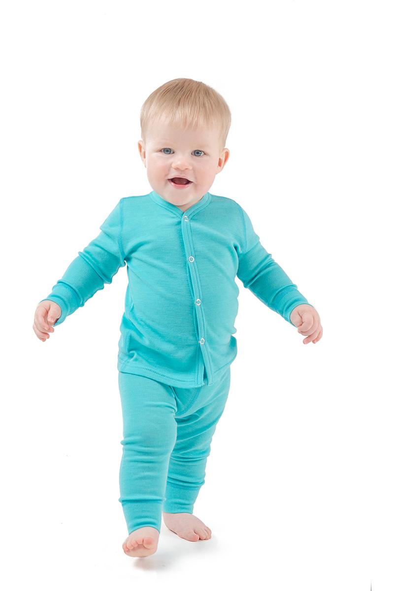 Комплект термобелья детский Dr. Wool, цвет: голубой. DWKL30115. Размер 68/74DWKL30115Однослойное мультисезонное термобелье для малышей Wool Lite выполнено из 100% шерсти австралийскогомериноса. В таком белье малышу будет мягко и комфортно в холодную погоду. Белье хорошо сочетается с любой верхней одеждой.