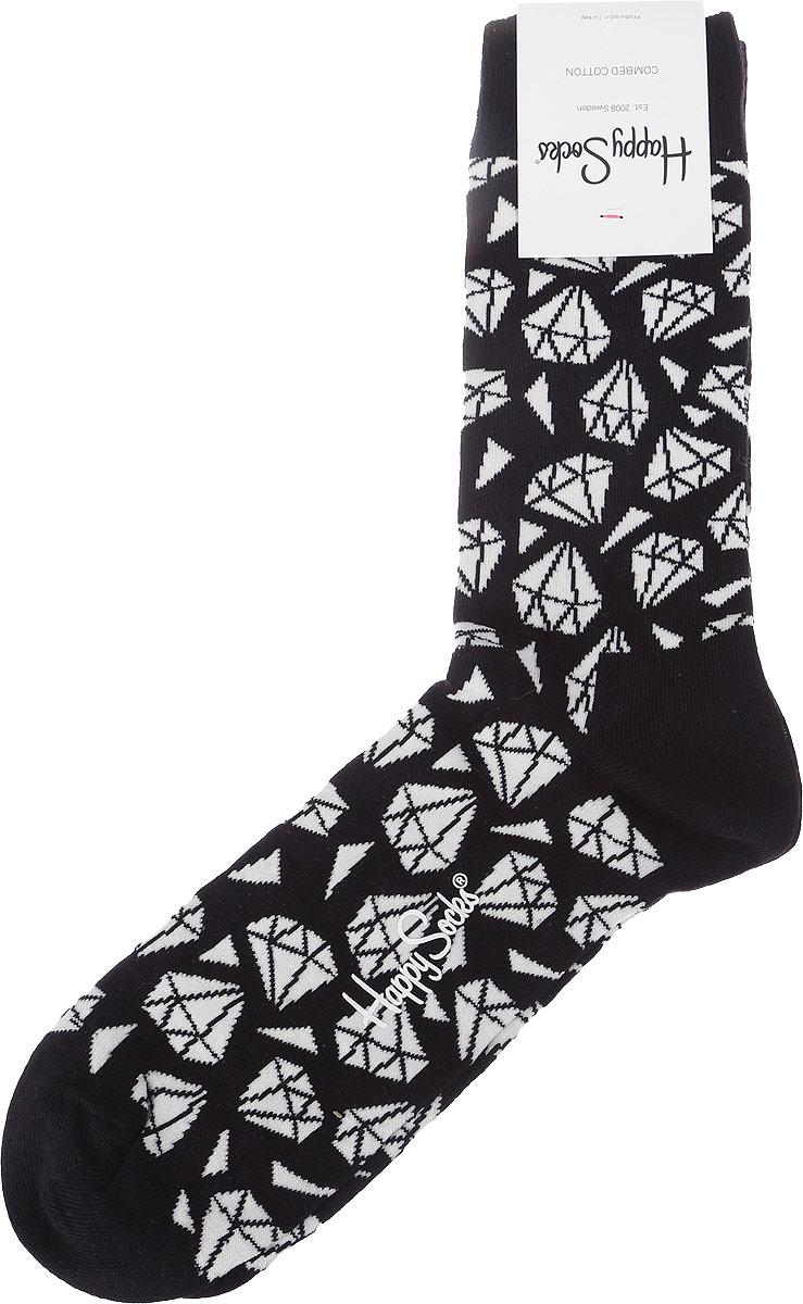 Носки Happy Socks Diamond, цвет: черный, белый. DIA01_9000. Размер 25 (36/40)DIA01_9000Носки от Happy Socks выполнены из эластичного хлопкового трикотажа с добавлением полиамида. Модель на паголенке дополнена мягкой эластичной резинкой, не сдавливающей ногу.