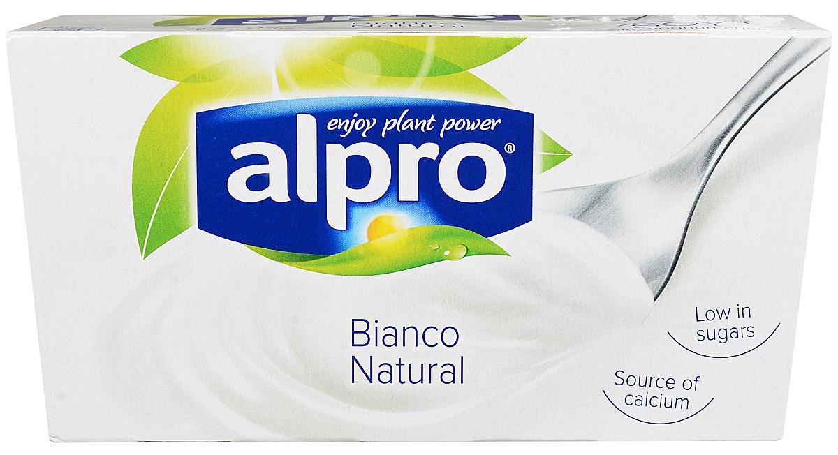 Alpro Йогурт Натуральный соевый, обогащенный кальцием и витаминами, 2 шт по 125 г молочный стиль йогурт натуральный 2 5% 125 г