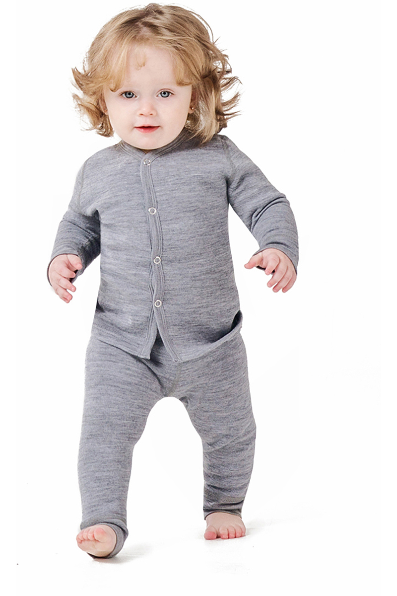 Комплект термобелья детский Dr. Wool, цвет: серый. DWKCH30115. Размер 56/62DWKCH30115Двухслойное термобелье для малышей выполнено из натуральных материалов: внутренний слой - из био-хлопка, внешний - из 100% шерсти австралийскогомериноса. В таком белье малышу будет приятно и комфортно.