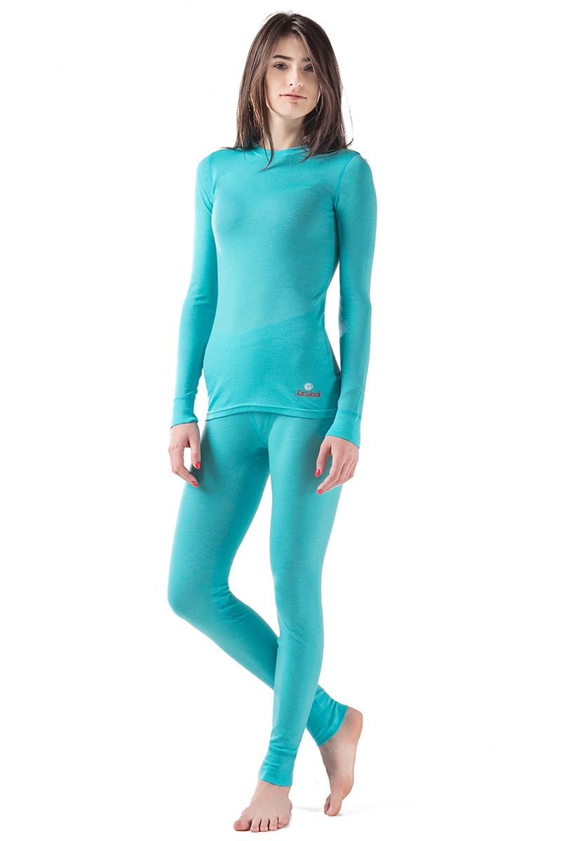 Комплект термобелья женский Dr. Wool, цвет: голубой. DWL20102. Размер 46/48DWL20102Мультисезонный однослойный комплект термобелья Dr. Wool подойдет для осени и зимы. Термобелье не сковывает движений. Его можно носить, как самостоятельный элемент одежды, так и под повседневной одеждой, под которой оно останется незамеченным. Мягкое и комфортное, белье не доставляет дискомфорта в области манжетов, резинки и швов. Натуральная шерсть австралийского мериноса, из которого изготовлено термобелье Dr. Wool, защитит не только от переохлаждения, но и от перегрева, регулирует влажность тела, появление неприятного запаха и размножение бактерий. Помимо этого, очень удобно, что белье можно стирать в стиральной машине - никакой усадки и деформации.