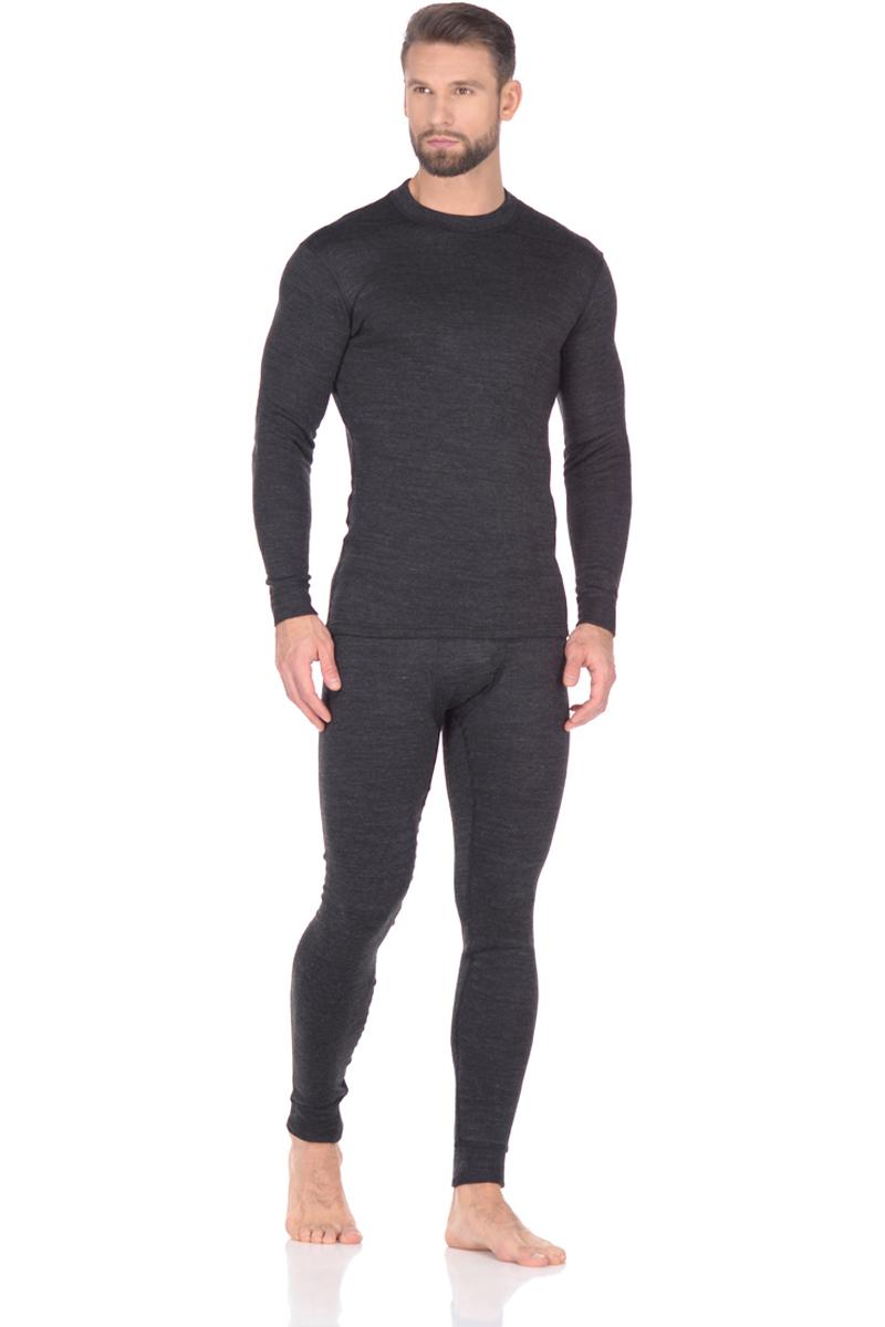 Комплект термобелья мужской Montero, цвет: черный. MCLCC 0102. Размер 44/46MCLCC 0102Мультисезонное термобелье серии City Line Cotton Comfort для прохладной погоды. Комплект стоит из лонгслива с длинным рукавовм и брюк.