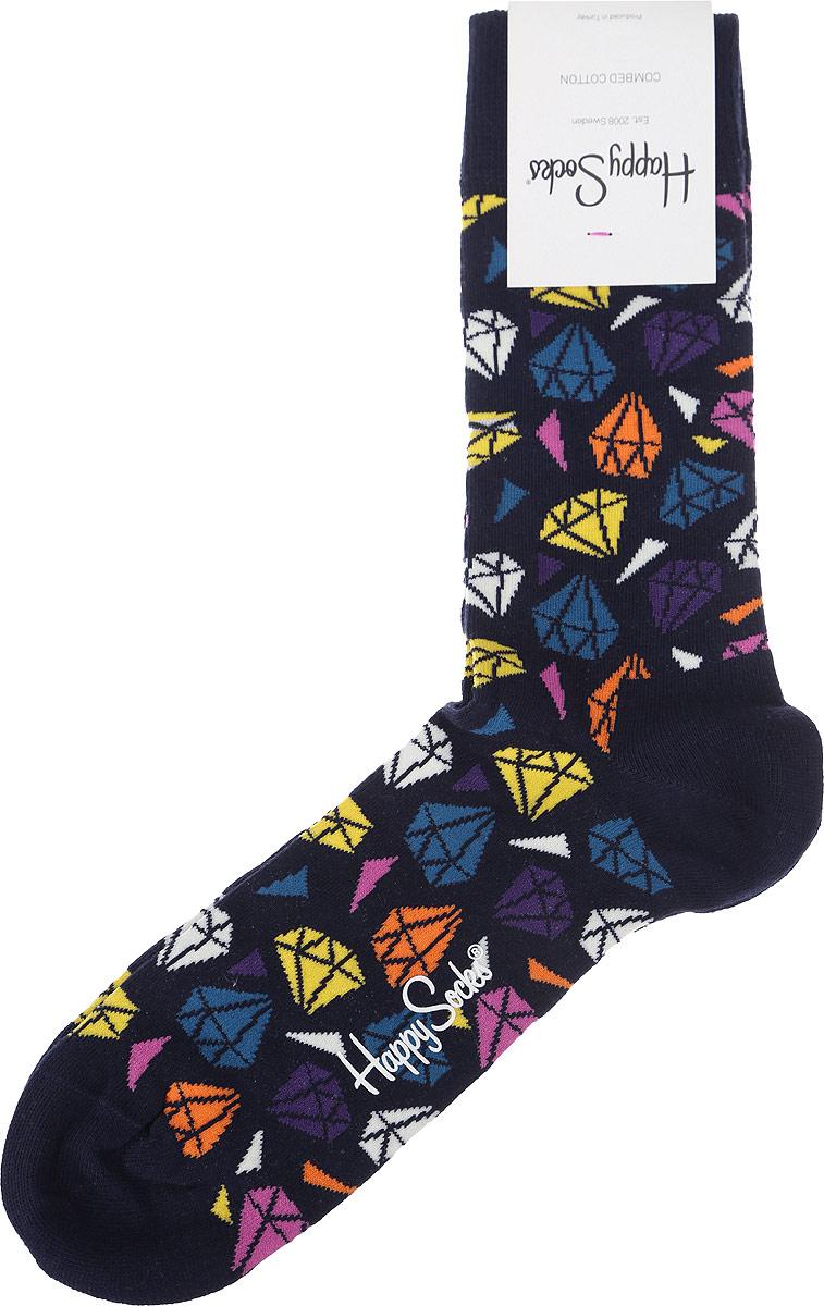 Носки Happy Socks Diamond, цвет: черный, разноцветный. DIA01_6000. Размер 29 (41/46)DIA01_6000Носки от Happy Socks выполнены из эластичного хлопкового трикотажа с добавлением полиамида. Модель на паголенке дополнена мягкой эластичной резинкой, не сдавливающей ногу.