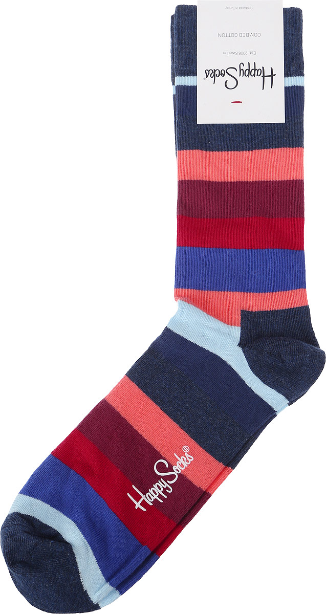 Носки Happy Socks Stripe, цвет: мультиколор. STR01_6003. Размер 29 (41/46) носки happy socks dir01 9001
