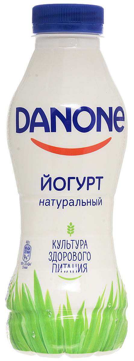Danone Йогурт питьевой 2,5%, 430 г danone йогурт питьевой черника ежевика 2 1% 270 г