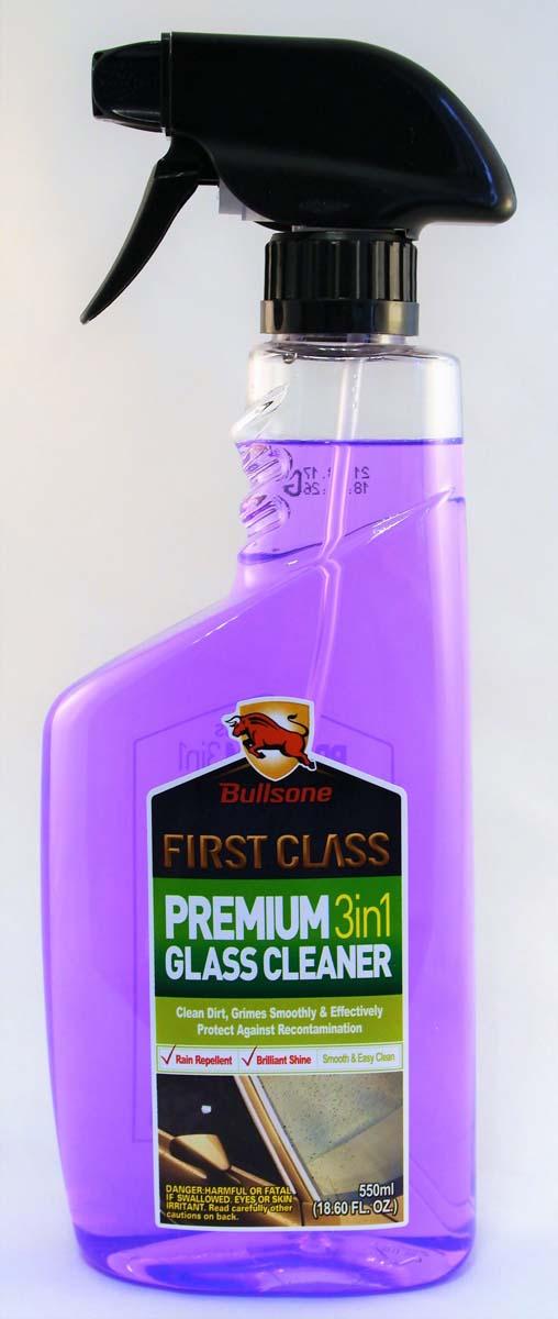 "Очиститель стекол Bullsone ""Premium 3 in 1 Glass Cleaner"", 550 мл"