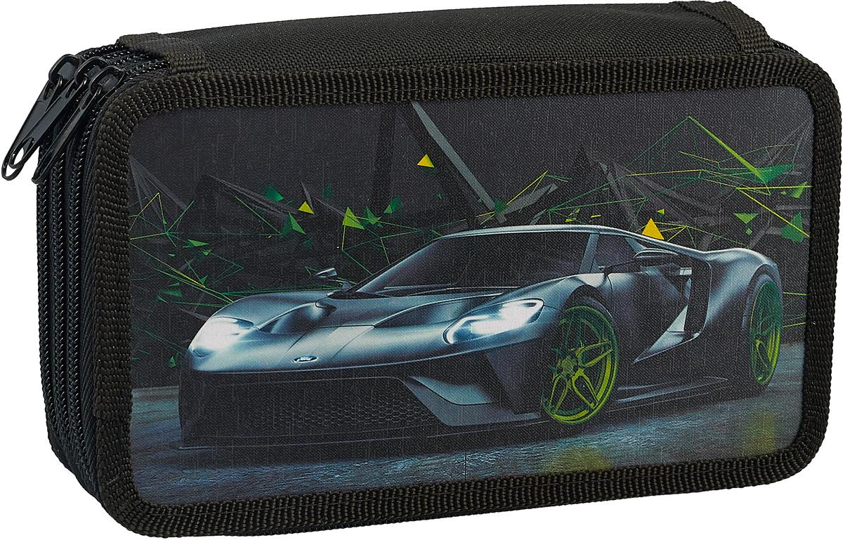ArtSpace Пенал 3 отделения Авто Supercar цвет черный рюкзак artspace freedom bdg 16016 257827