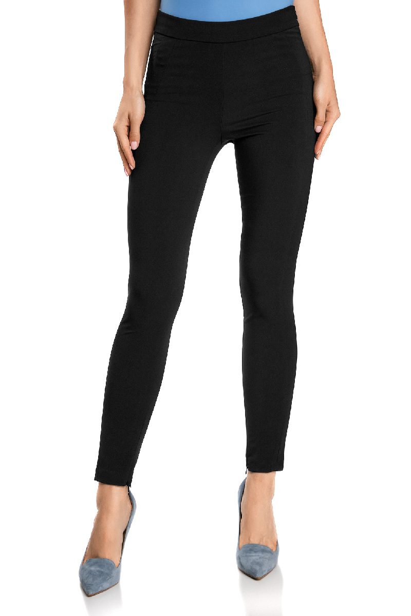 Брюки женские oodji Ultra, цвет: черный. 11707115/46349/2900N. Размер 34-170 (40-170) брюки женские oodji ultra цвет светло серый 11700160 27125 2000n размер 34 170 40 170