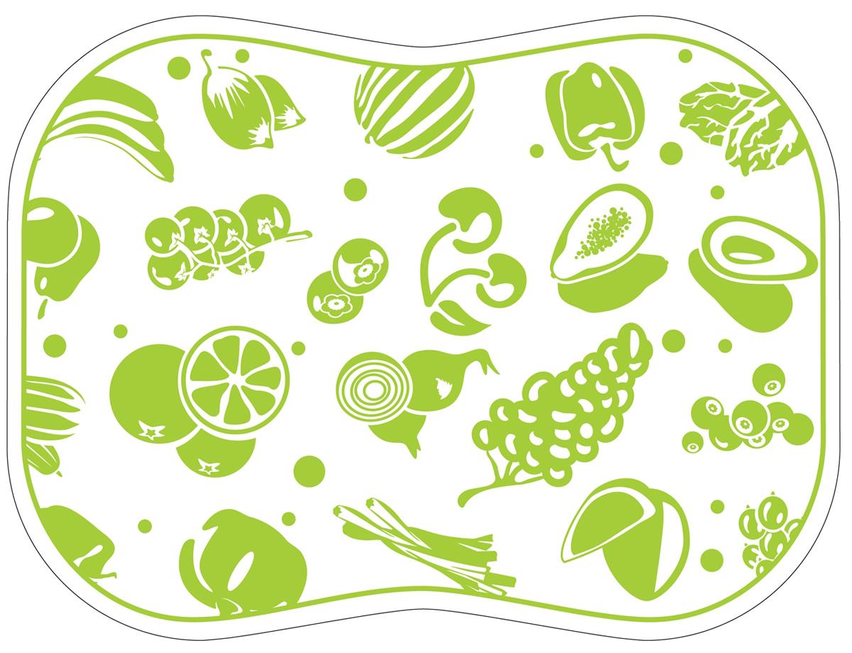 Разделочная доска Tagliere, цвет: салатовый, 30 x 40 см разделочные доски bohmann доска разделочная 33 7 на 27 6 см