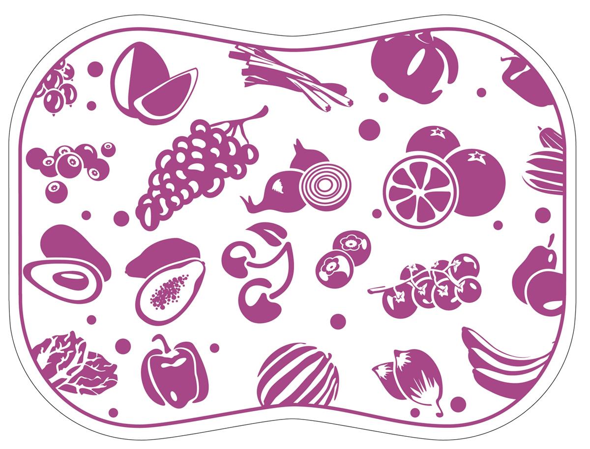 Разделочная доска Tagliere, цвет: фиолетовый, 30 x 40 см разделочные доски bohmann доска разделочная 33 7 на 27 6 см