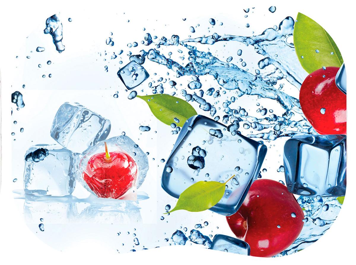 Разделочная доска Tagliere Вишня, цвет: белый, голубой, красный, 30 x 40 см разделочные доски bohmann доска разделочная 33 7 на 27 6 см