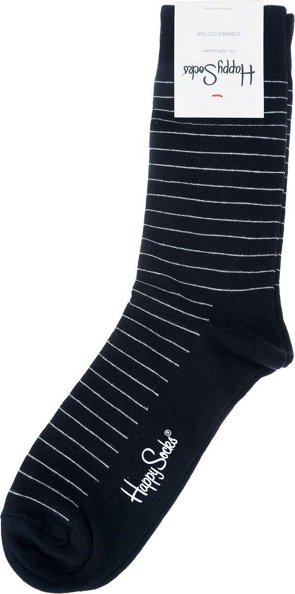 Носки Happy Socks Thin Stripe, цвет: черный. SB01_999. Размер 29 (41/46)SB01_999Носки от Happy Socks, изготовленные из высококачественного материала, дополнены принтом. Эластичная резинка плотно облегает ногу, не сдавливая ее. Усиленная пятка и мысок обеспечивают надежность и долговечность.