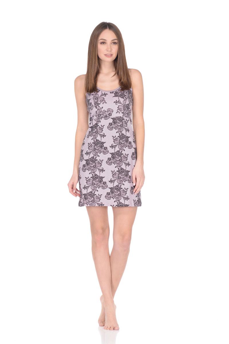 Рубашка ночная женская Letto, цвет: розовый. TFnn012. Размер 48TFnn012Ночная сорочка нежной расцветки, выполненная из 100% хлопка. Модель свободного кроя на тоненьких бретельках. Оттенок изделия может отличаться в зависимости от цветопередачи экрана.