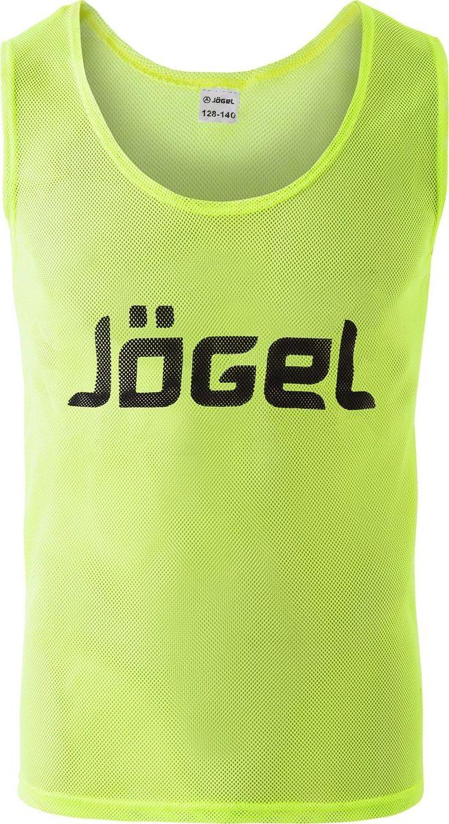 Манишка футбольная для мальчика Jogel, цвет: лимонный. JBIB-1001. Размер 128/140
