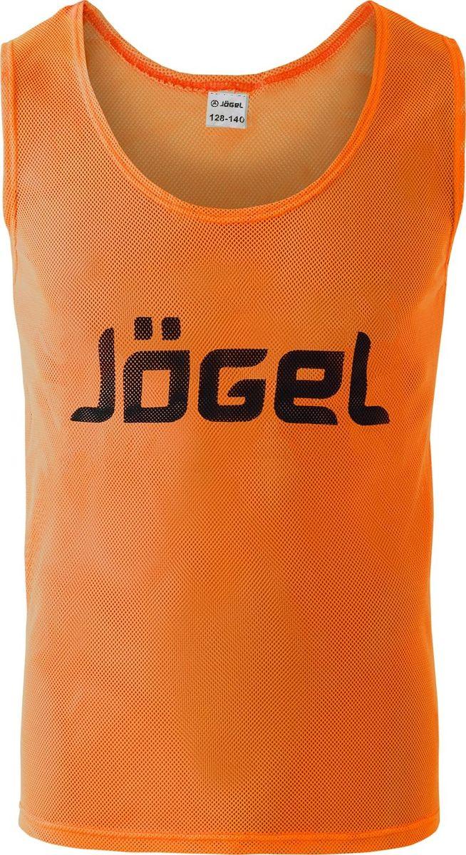 Манишка футбольная для мальчика Jogel, цвет: оранжевый. JBIB-1001. Размер 128/140JBIB-1001Манишка детская сетчатая отJogel не садится, не выгорает, быстро сохнет. Свободный крой придает свободу движениям. Логотип – принт. Яркая, легкая, спортивная манишка разработана специально для спортивных тренировок и игр. Благодаря насыщенным цветам вы без проблем найдёте игрока своей команды.