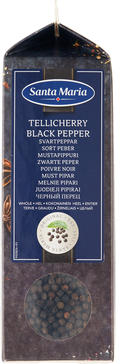 Santa Maria Черный перец Tellicherry целый, 450 г santa maria белый перец целый 550 г