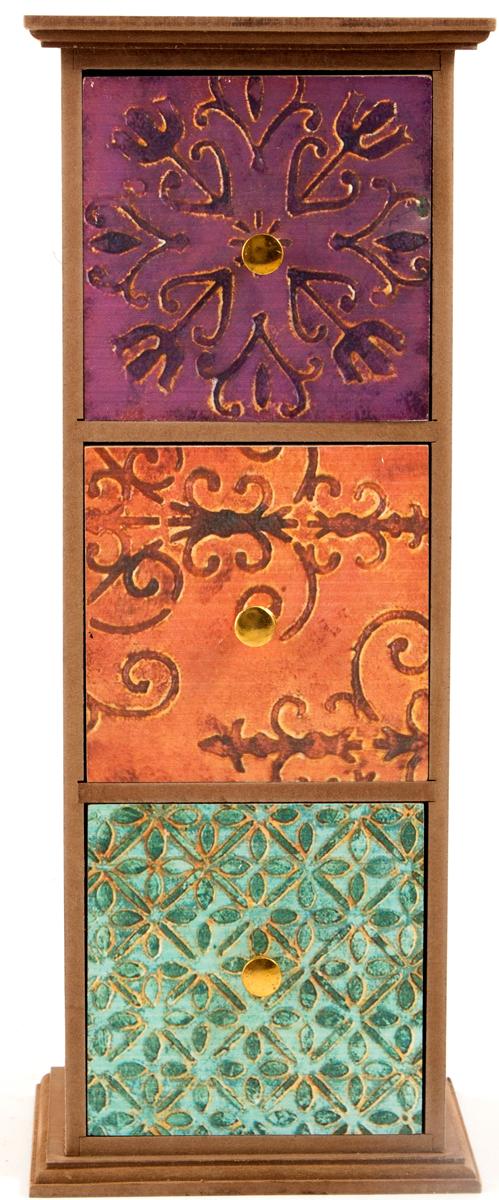 Шкатулка для хранения, цвет: мультиколор, 35 х 11 х 34 см. 3860838608Шкатулка для ювелирных украшений является предметом женского обихода, предназначена не только для хранения драгоценностей и ювелирных украшений, но являются частью интерьера. Прекрасно подойдет в качестве подарка на любой праздник.