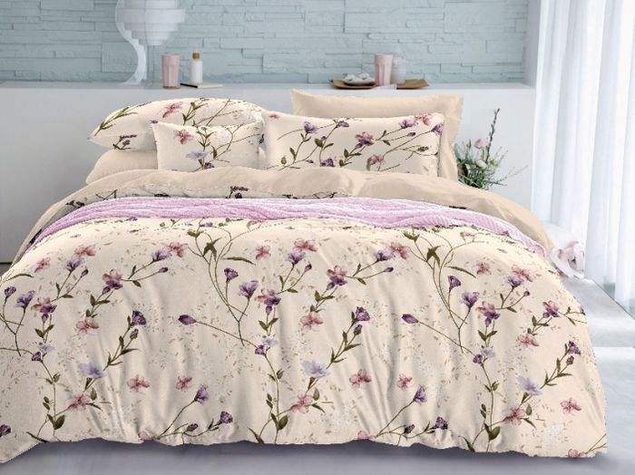 Комплект белья Soft Line, семейный, наволочки 50x70. 0613106131Постельное белье SL из сатина с декоративной отделкой.