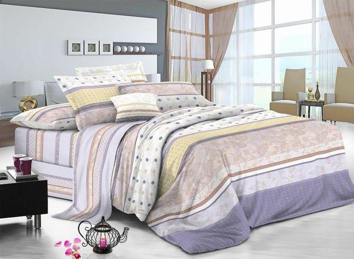 Комплект белья Soft Line, 2-х спальный, наволочки 50x70. 0613706137Постельное белье SL из сатина с декоративной отделкой.