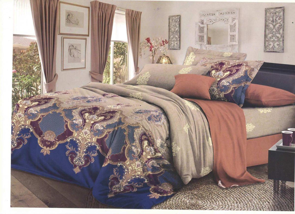Комплект белья Soft Line, семейный, наволочки 50x70. 0614306143Постельное белье SL из сатина с декоративной отделкой.